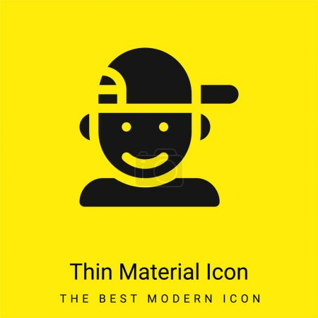 Illustration for Boy minimal bright yellow material icon - Royalty Free Image