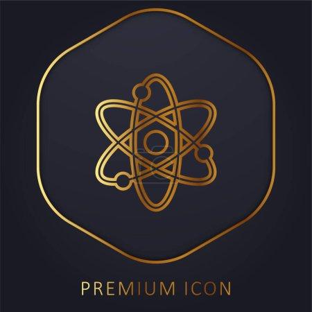 Photo pour Atomique ligne d'or logo premium ou icône - image libre de droit