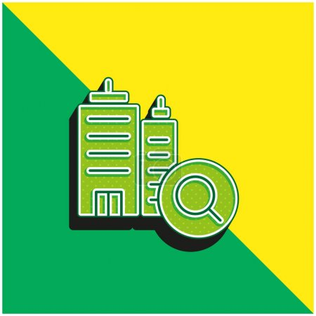 Illustration for Booking Green and yellow modern 3d vector icon logo - Royalty Free Image