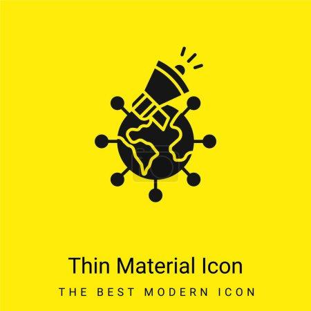 Illustration pour Publicité minimale jaune vif icône matérielle - image libre de droit