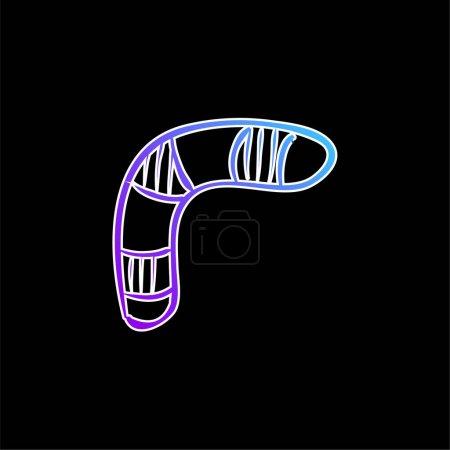 Icône vectorielle de dégradé bleu Boomerang