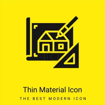 Blueprint minime icône matériau jaune vif