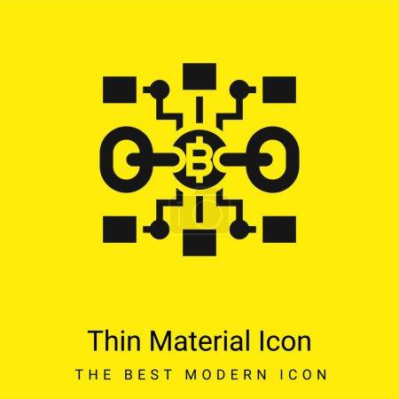Blockchain minimal bright yellow material icon
