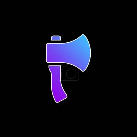 Axe blue gradient vector icon
