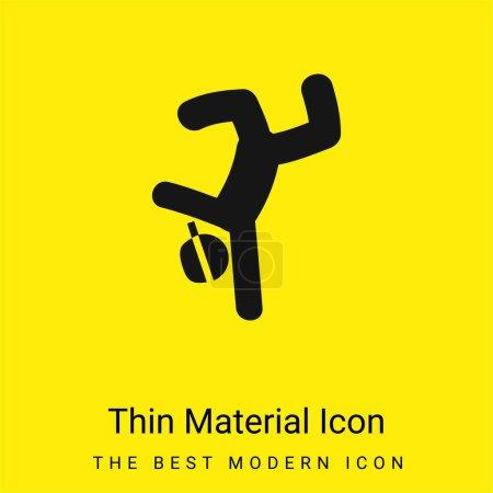 Illustration pour Breakdancer minime icône matériau jaune vif - image libre de droit