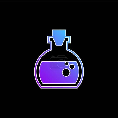 Illustration pour Bouteille de lotion d'aromathérapie avec l'icône vectorielle de dégradé bleu intérieur liquide - image libre de droit