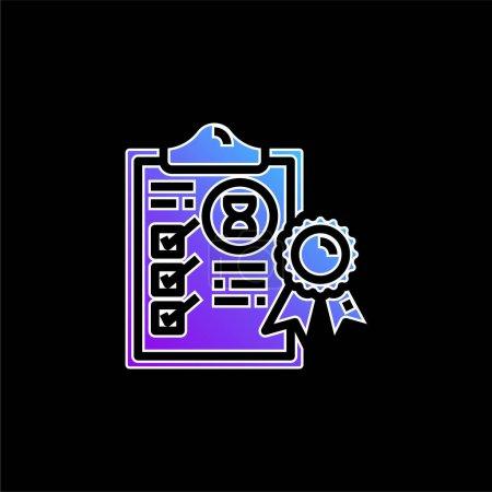 Illustration pour Icône vectorielle de dégradé bleu d'assurance - image libre de droit