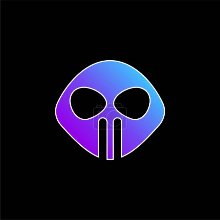 Alien blue gradient vector icon