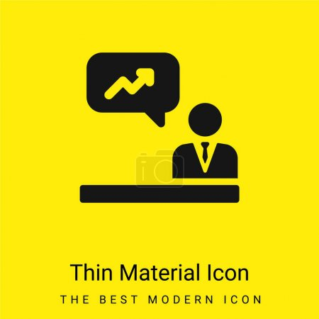 Illustration for Analytics minimal bright yellow material icon - Royalty Free Image