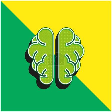 Illustration pour Brainstorm Logo vectoriel 3D moderne vert et jaune - image libre de droit