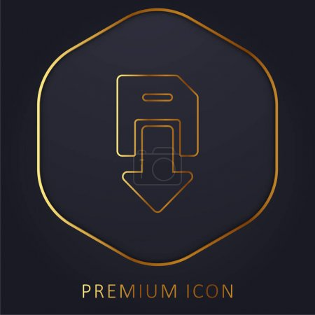 Illustration for Backup golden line premium logo or icon - Royalty Free Image
