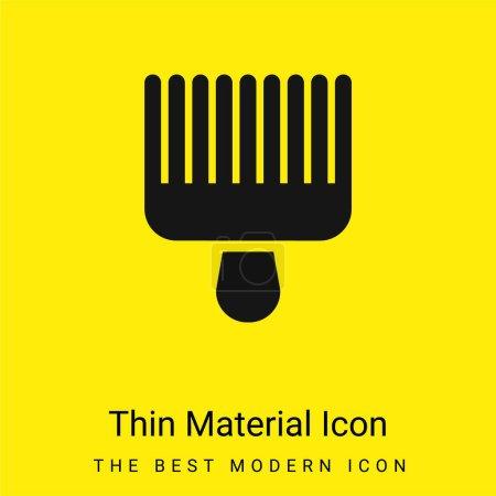 Illustration pour Afro Choisissez minimale icône de matériau jaune vif - image libre de droit