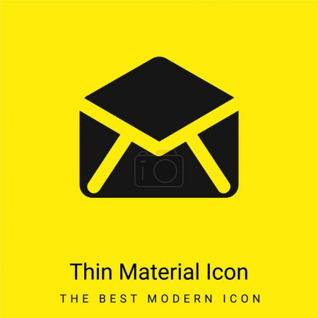 Black Open Envelope Back minimal bright yellow material icon