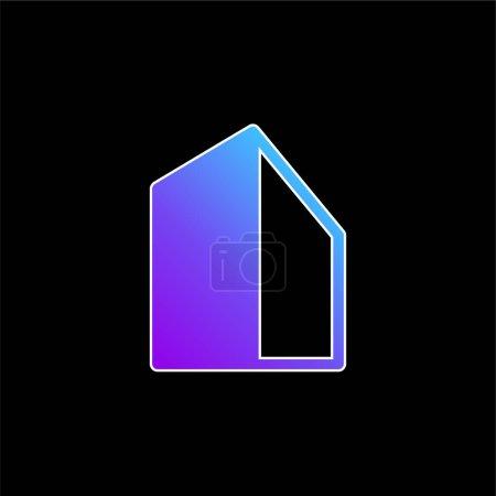 Photo pour Icône vectorielle de dégradé bleu Big Building - image libre de droit