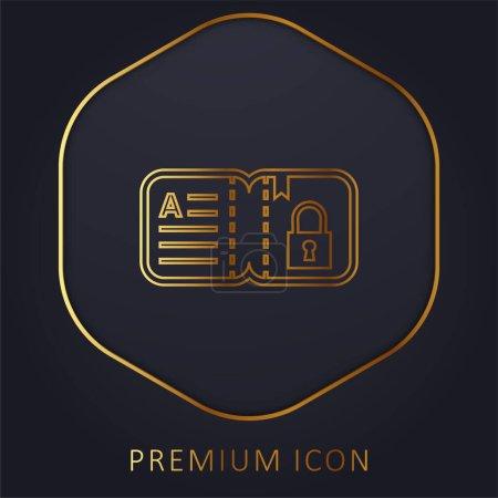 Illustration for Book golden line premium logo or icon - Royalty Free Image