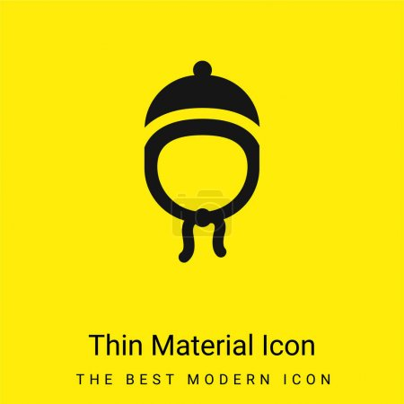 Illustration for Baby Hat minimal bright yellow material icon - Royalty Free Image