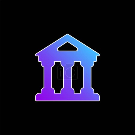 Illustration pour Icône vectorielle de dégradé bleu bancaire - image libre de droit
