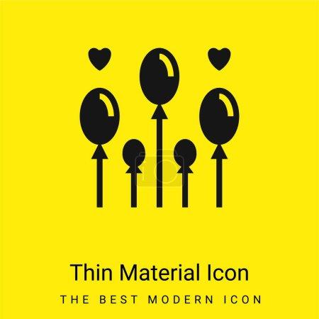 Balloon minimal bright yellow material icon