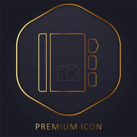Photo pour Agenda ligne d'or logo premium ou icône - image libre de droit