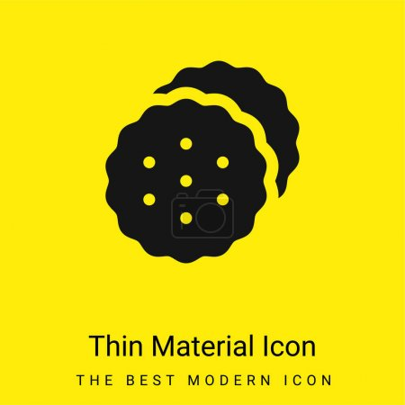 Biscuits minimal bright yellow material icon