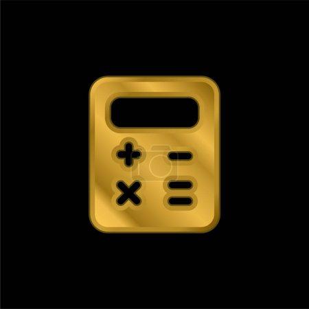 Bilan plaqué or icône métallique ou logo vecteur