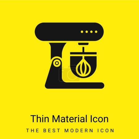 Illustration pour Mélangeur minimal icône de matériau jaune vif - image libre de droit
