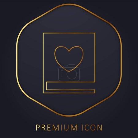 Illustration pour Livre d'amour ligne d'or logo premium ou icône - image libre de droit
