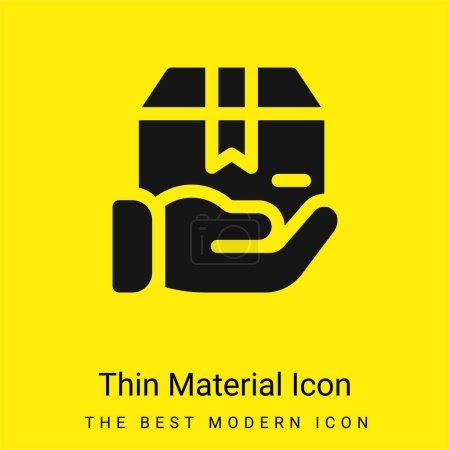 Illustration pour Boîte minimale icône de matériau jaune vif - image libre de droit