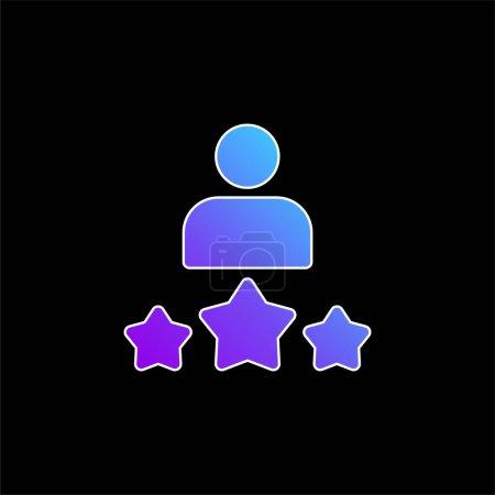 Illustration pour Meilleure icône vectorielle de dégradé bleu employé - image libre de droit