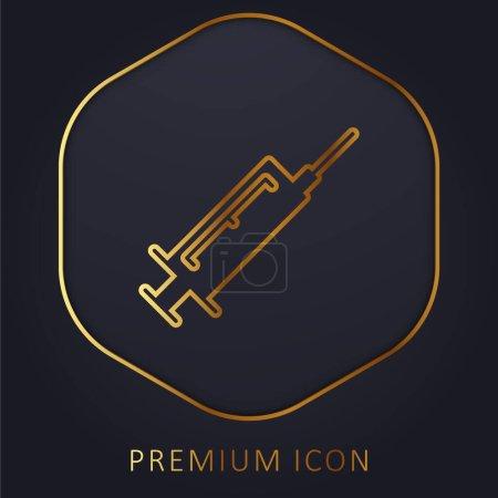 Botox golden line premium logo or icon