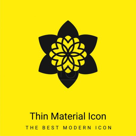 Photo for Beautiful Buddhist Flower minimal bright yellow material icon - Royalty Free Image