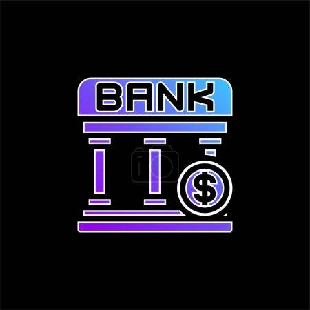 Blaues Gradientenvektorsymbol der Bank