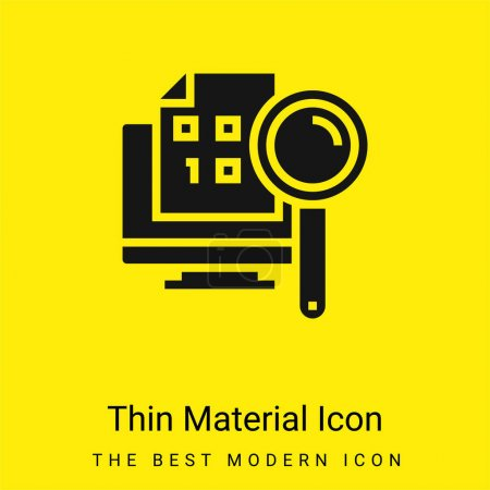 Illustration for Binary Code minimal bright yellow material icon - Royalty Free Image