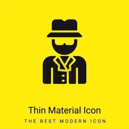 Anonymous minimal bright yellow material icon