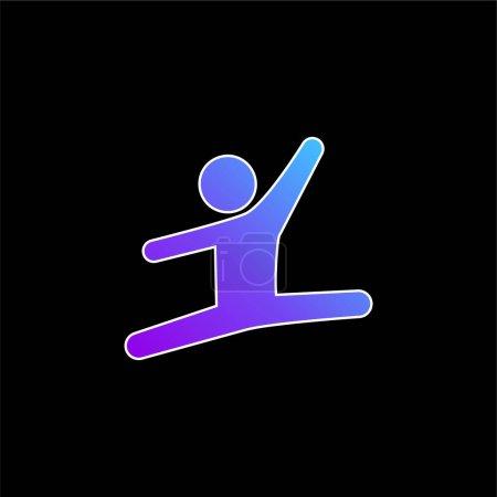 Gimnastyczka artystyczna ikona wektora niebieskiego gradientu