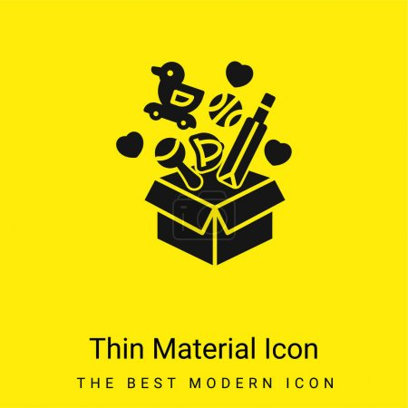 Box minimal bright yellow material icon