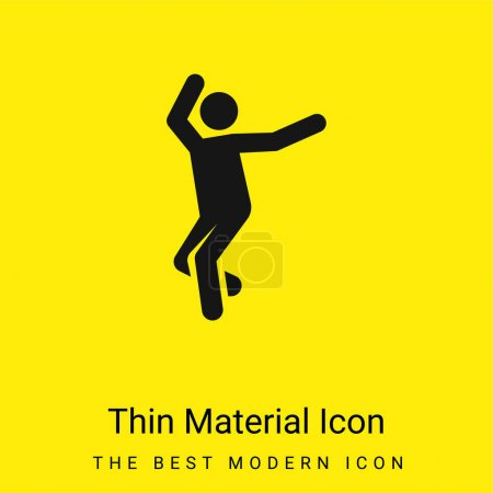Breakdance minimale leuchtend gelbe Material-Ikone