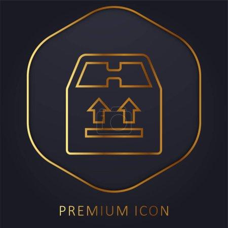 Illustration pour Boîte ligne d'or logo premium ou icône - image libre de droit