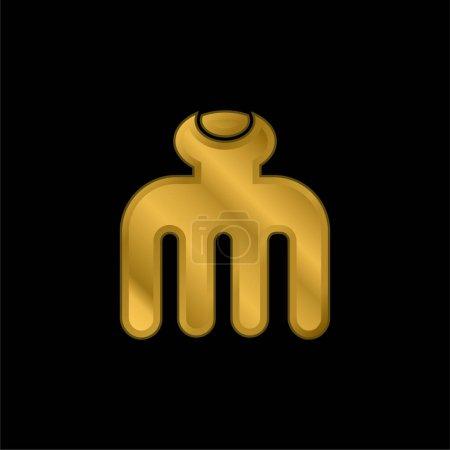 Illustration pour Icône métallique plaqué or beauté ou vecteur de logo - image libre de droit
