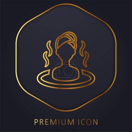 Bad goldene Linie Premium-Logo oder Symbol