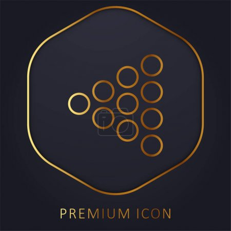 Bowling Pins golden line premium logo or icon