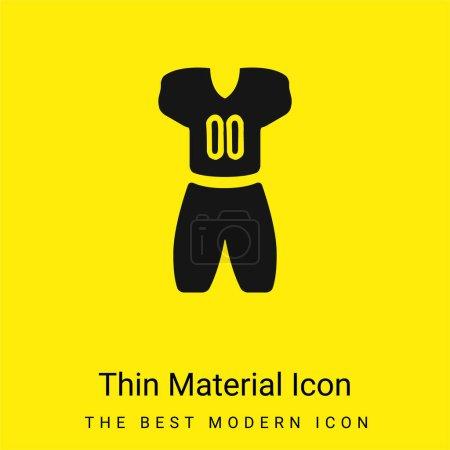 Illustration pour American Football Vêtements minime jaune vif icône matérielle - image libre de droit