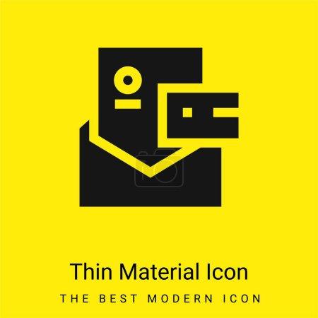 Photo pour Marque minimale icône de matériau jaune vif - image libre de droit