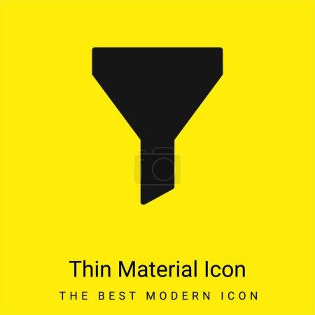 Big Funnel minimal bright yellow material icon