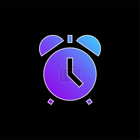 Illustration pour Réveil Icône vectorielle dégradé bleu - image libre de droit