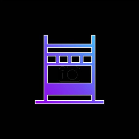 Bridge blue gradient vector icon