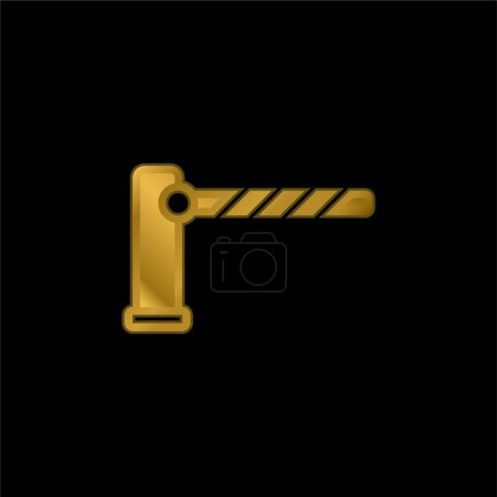 Barrier gold plated metalic icon or logo vector