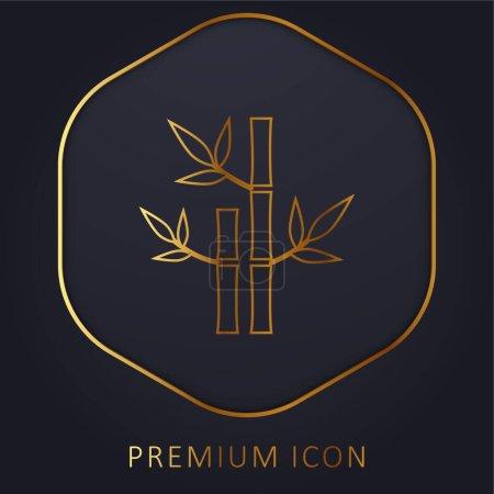 Illustration pour Plantes de bambou de Spa ligne d'or logo premium ou icône - image libre de droit