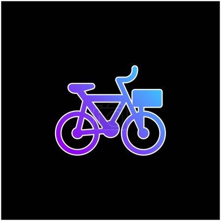 Photo pour Icône vectorielle de dégradé bleu vélo - image libre de droit