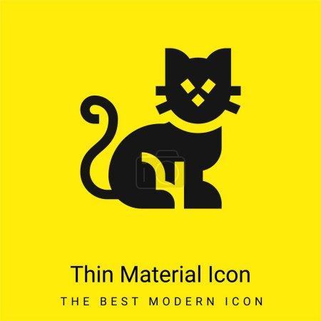 Black Cat minimal bright yellow material icon